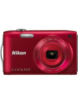 Nikon S3200 Point & Shoot Camera(Red)
