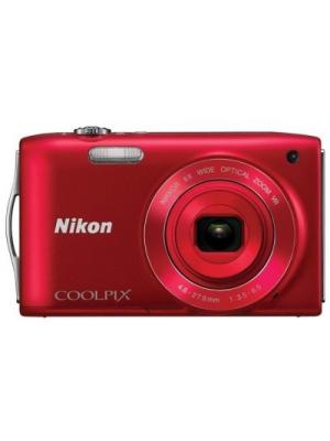 Nikon S3300 Point & Shoot Camera(Red)