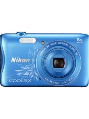 Nikon S3700 Point & Shoot Camera(Design Blue)