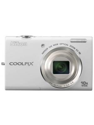 Nikon S6200 Point & Shoot Camera(White)