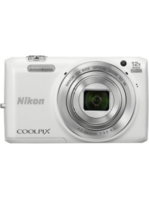 Nikon S6800 Point & Shoot Camera(White)