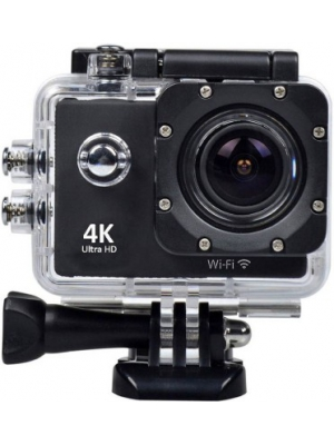 Feleez 4K Ultra HD 12 MP WiFi Waterproof Digital Action & Sports Body only Sports & Action Camera(Bl