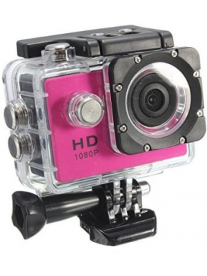 Shrih 8 mp LCD Display Sports and Action Camera(Pink 8 MP)