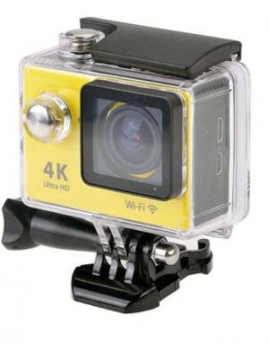 Shrih Ultra HD 4K WIFI Dual Screen Waterproof Body Only Sports & Action Camera(Yellow)