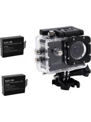 SJ Cam Sjcam4000Wifi_0003 Sjcamsj4000Wifiblack+2Battery Sports & Action Camera(Black)