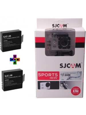 SJCAM SJCAMSJ4000SILVER_2Battery SJCAMSJ4000SILVER_2Battery Sports & Action Camera(Silver)