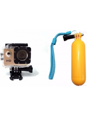 ZVR Powershot Go Pro 1080P Full HD Sports and Action Camera(Gold 12 MP)