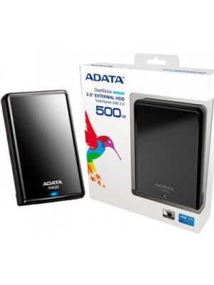 ADATA 500 GB Wired External Hard Disk Drive(Black)