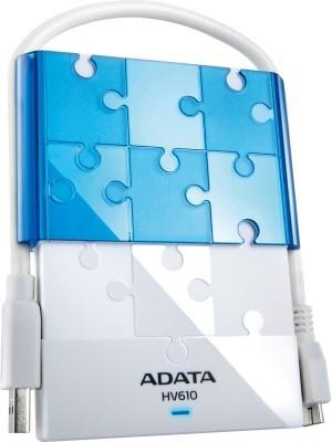 Adata HV610 2.5 inch 1 TB External Hard Disk(White)
