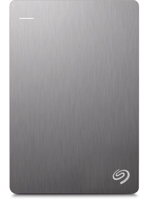 Seagate Backup Plus Slim 1 TB Wired External Hard Disk Drive(Silver, Mobile Backup Enabled)