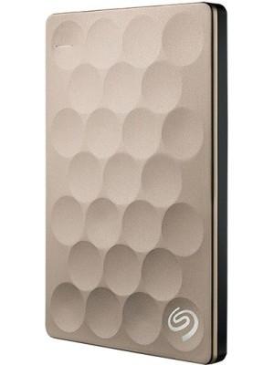 Seagate Backup Plus Ultra Slim Drive 2 TB External Hard Disk Drive(Gold)