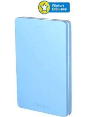 Toshiba Canvio Alumy 2 TB Wired External Hard Disk Drive(Blue)