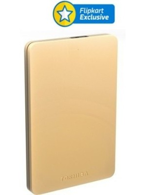 Toshiba Canvio Alumy 2 TB Wired External Hard Disk Drive(Gold)