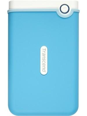 Transcend StoreJet 25M3B 2.5 inch 1 TB Auto-Backup Drive(Light Blue)
