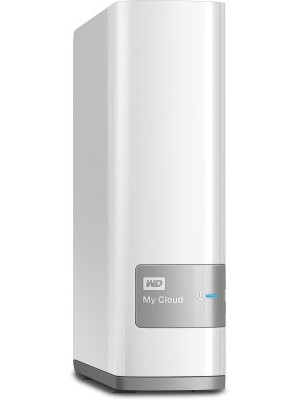 WD My Cloud 4 TB Wired External Hard Disk Drive(White, External Power Required)