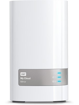 WD My Cloud Mirror 8 TB Wired External Hard Disk Drive(White, External Power Required)