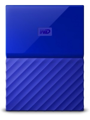 WD My Passport 2 TB Wired External Hard Disk Drive(Blue)