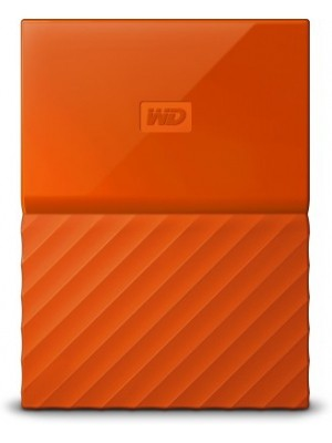 WD My Passport 4 TB Wired External Hard Disk Drive(Orange)