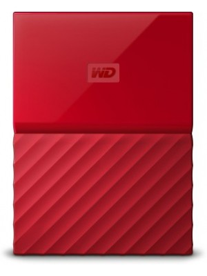WD My Passport 4 TB Wired External Hard Disk Drive(Red)