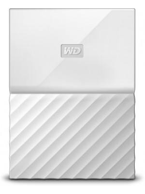 WD My Passport 4 TB Wired External Hard Disk Drive(White)