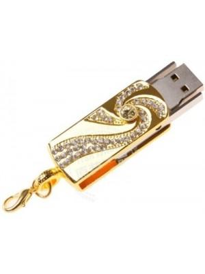 Microware Golden Crystal 32 GB Pen Drive(Multicolor)