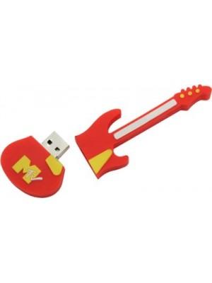 Microware Guitar Shape 16 GB Pen Drive(Red)