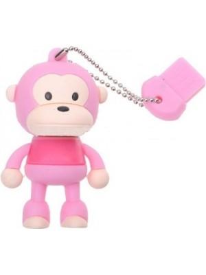 Microware Monkey Pink Shape Designer 4 GB Pendrive(Pink)