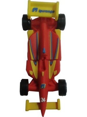 Microware Racing Car Red 24 Shape 32 GB Pen Drive