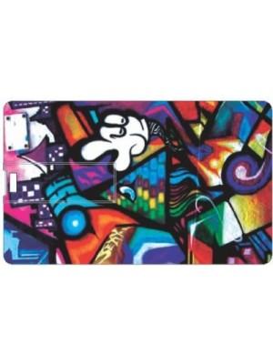 Printland Abstract PC87607 8 GB Pen Drive(Multicolor)