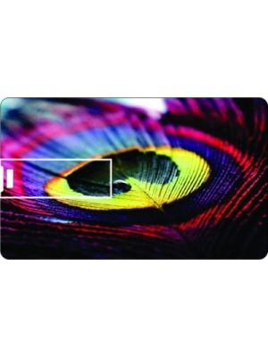 Printland Credit card Peacock 8 GB Pen Drive(Multicolor)