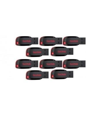 SanDisk Cruzer Blade USB Flash Drive 8 GB Pen Drive(Black)