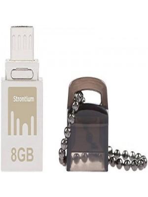 Strontium otg Nitro 8 GB Pen Drive(Black, Silver)