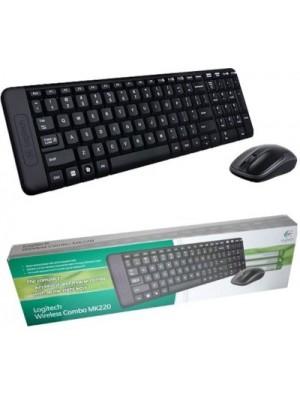 Logitech MK 220 Desktop Wireless Laptop Keyboard(Black)