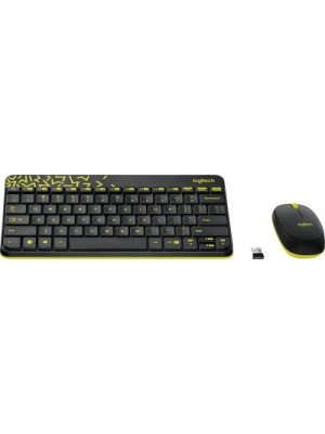 Logitech MK240 Wireless Keyboard and Mouse Combo(Black&Chartreuse Yellow)